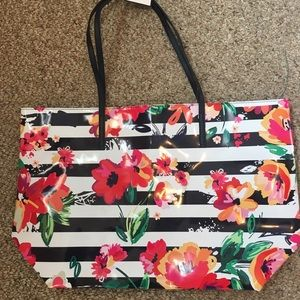 Macy's Floral Tote New with Tag